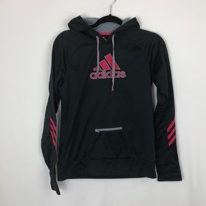 Adidas hoodie with zipper front pocket